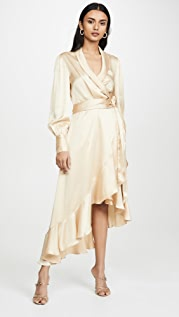 Zimmermann Super Eight Wrap Midi Dress