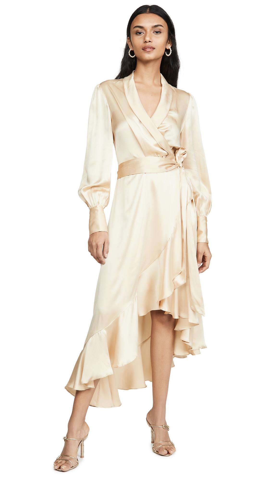 Buy Zimmermann Super Eight Wrap Midi Dress online beautiful Zimmermann Clothing, Dresses