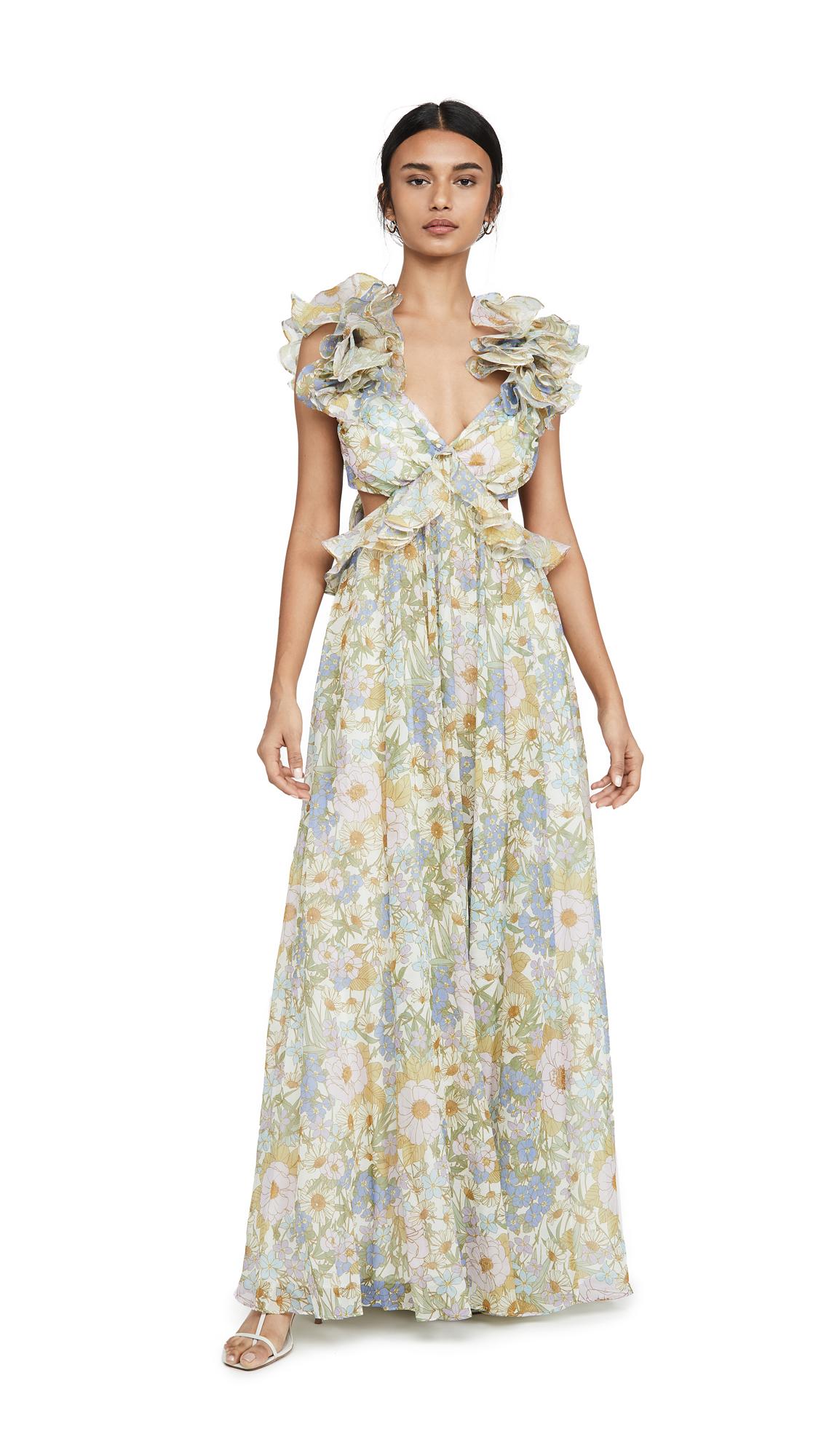 Buy Zimmermann Super Eight Ruffle Gown online beautiful Zimmermann Dresses, Strapless