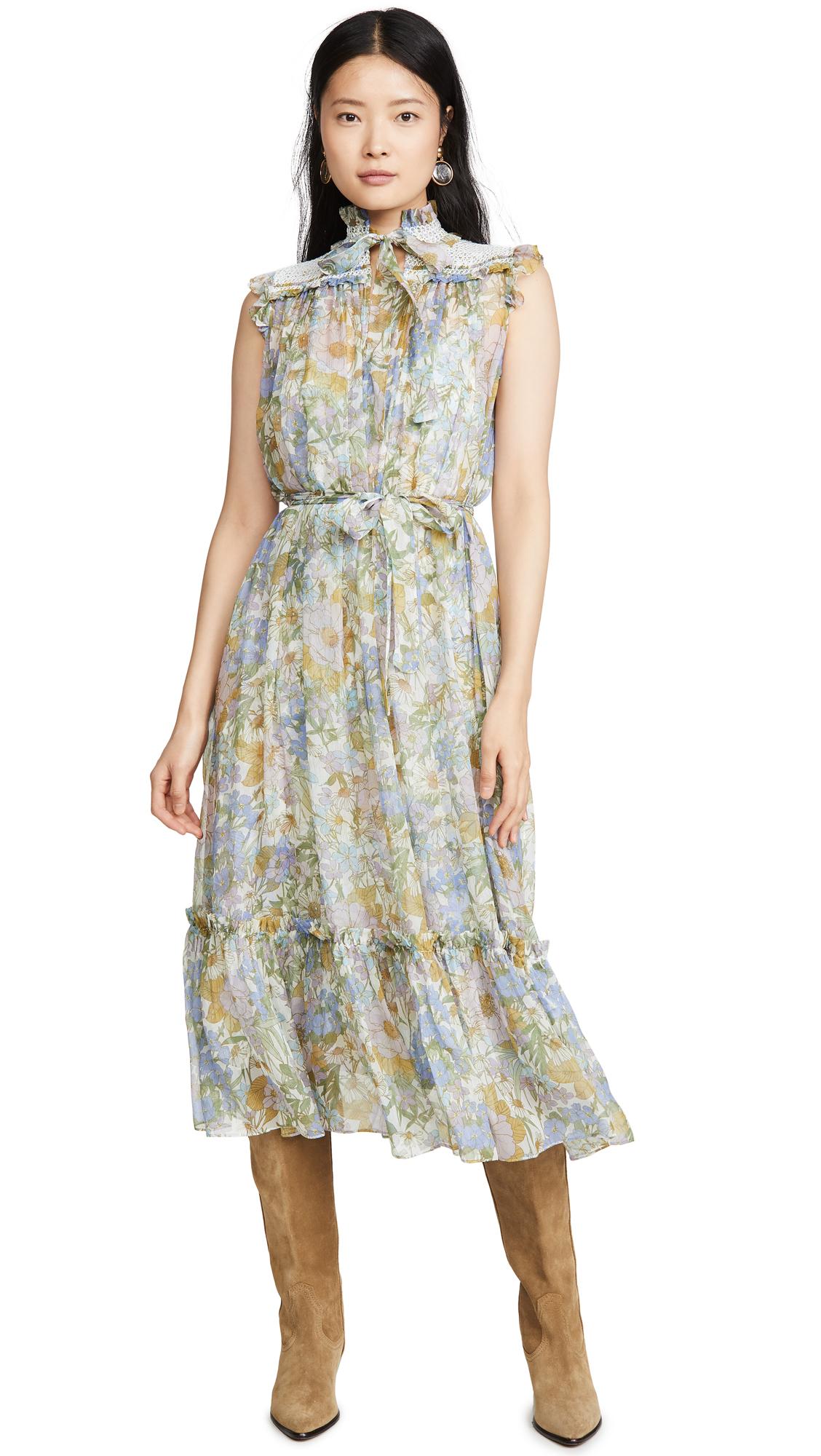Buy Zimmermann Super Eight Sleeveless Midi online beautiful Zimmermann Clothing, Dresses