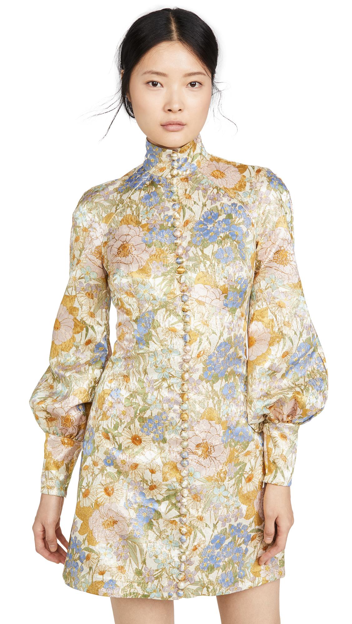 Buy Zimmermann Super Eight Brocade Long Sleeve Mini online beautiful Zimmermann Clothing, Dresses
