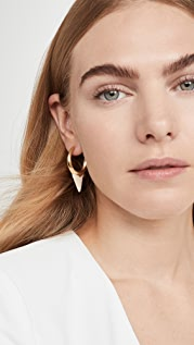 Zimmermann Wavelength Surf Hoop Earrings