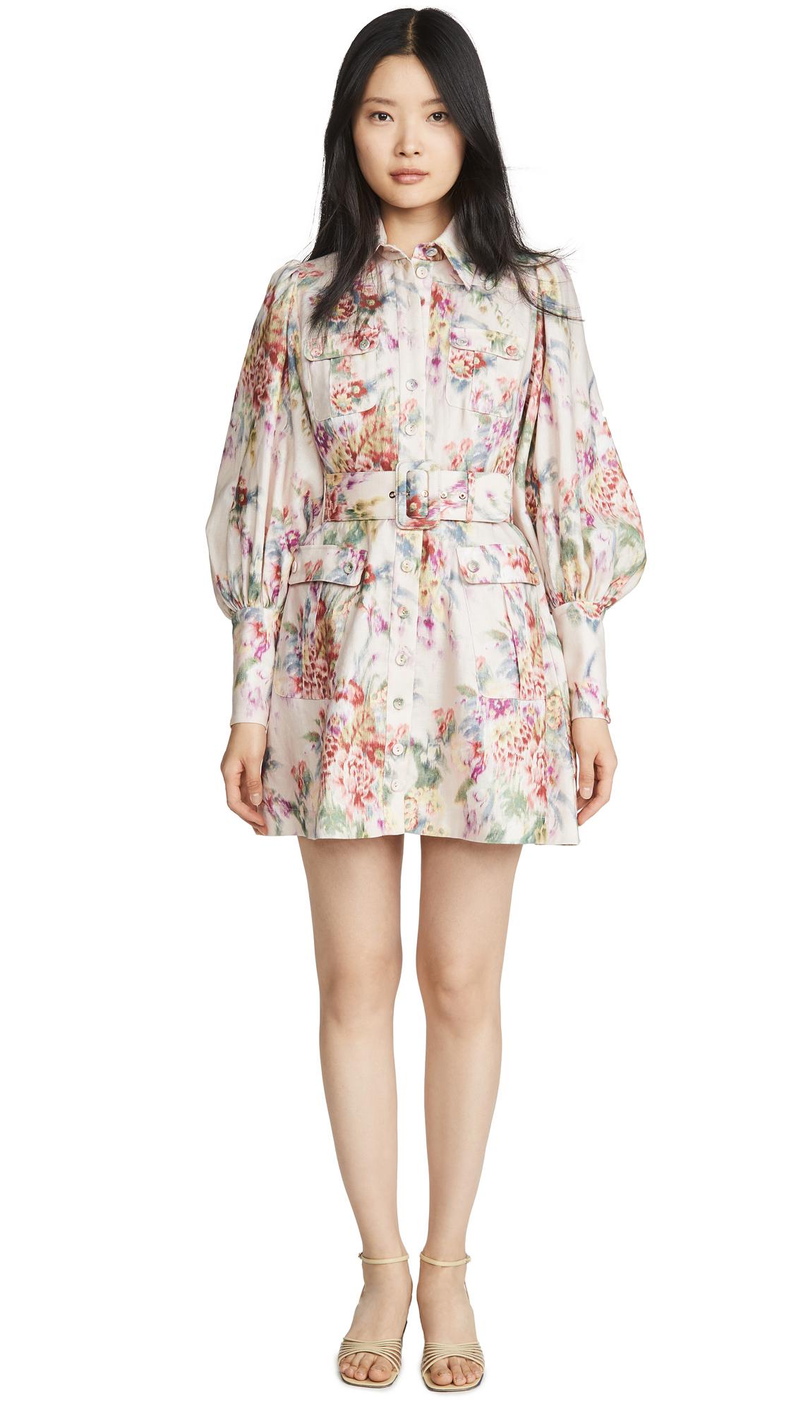 Buy Zimmermann Wavelength Long Sleeve Mini online beautiful Zimmermann Clothing, Dresses