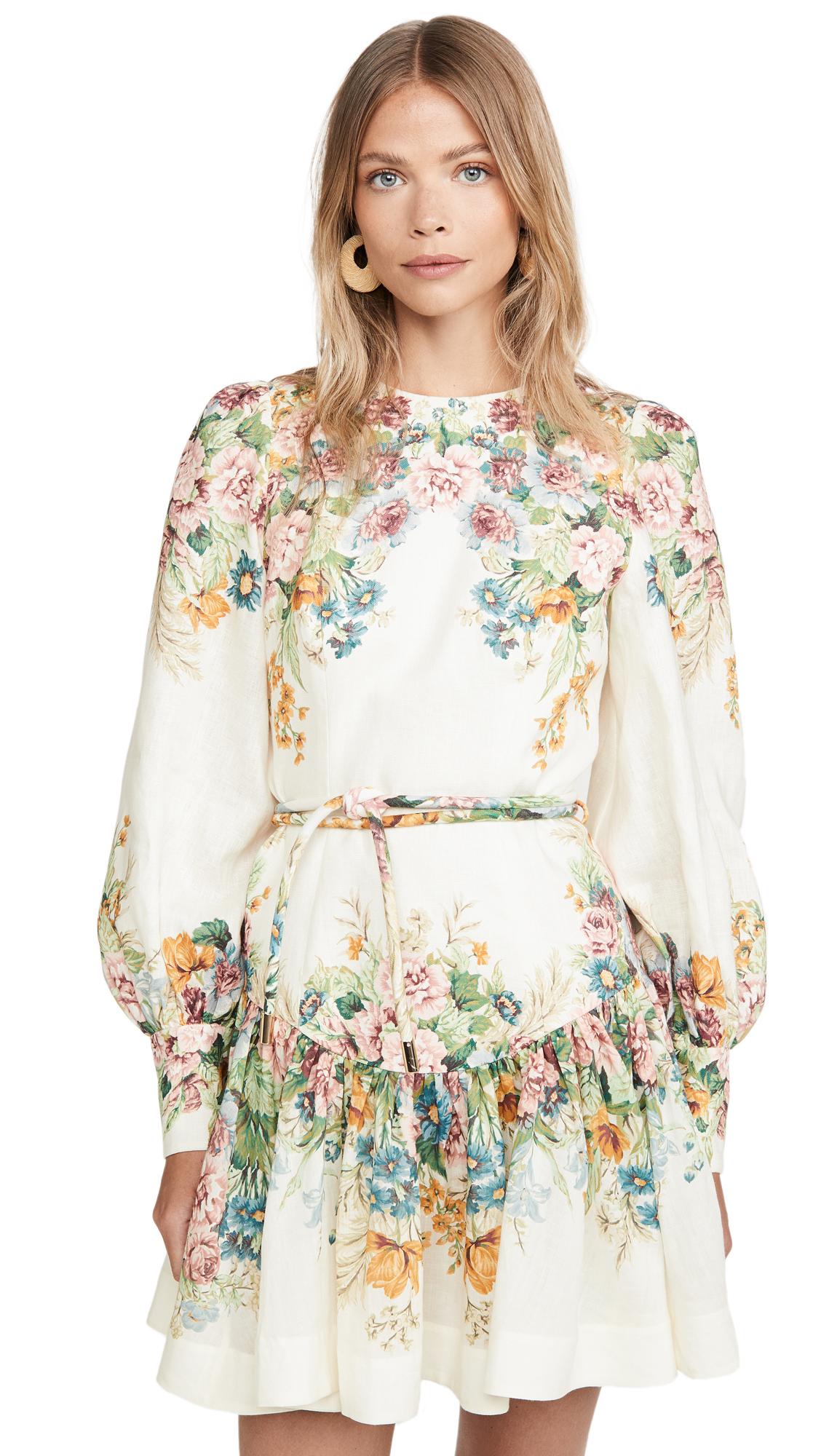 Buy Zimmermann Wavelength Bell Sleeve Mini Dress online beautiful Zimmermann Clothing, Dresses