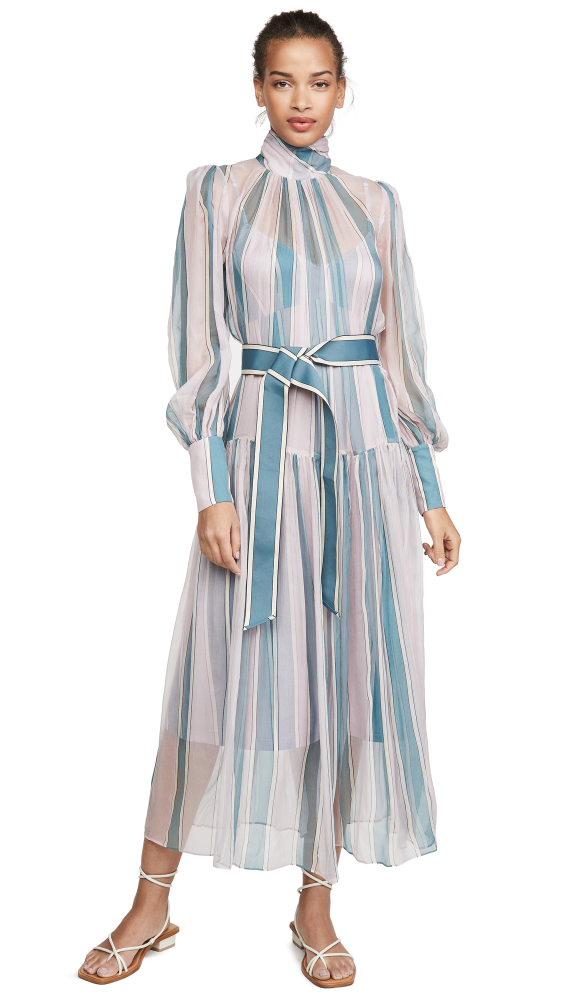Photo of Zimmermann Wavelength Roll Neck Midi Dress - shop Zimmermann Clothing, Dresses online