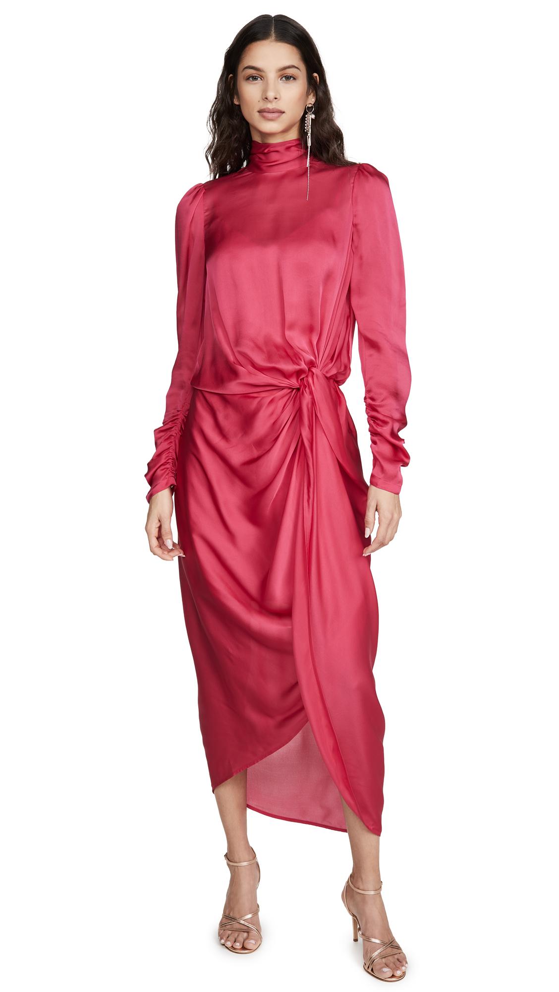 Zimmermann Drape Long Sleeve Dress - Magenta