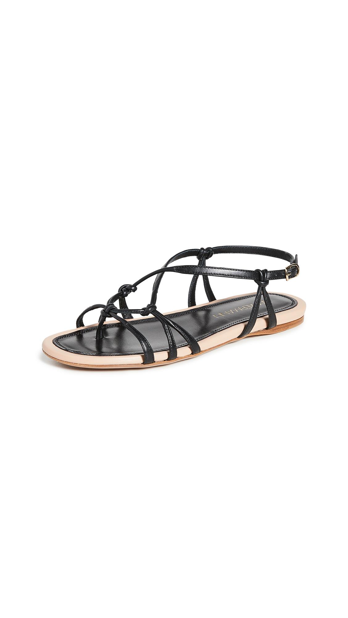 Buy Zimmermann Knotted Strap Flat Sandals online, shop Zimmermann