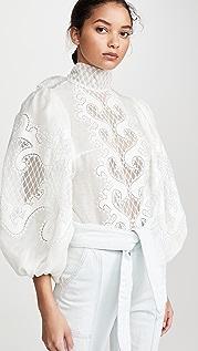 Zimmermann Brightside 结饰刺绣女式衬衫
