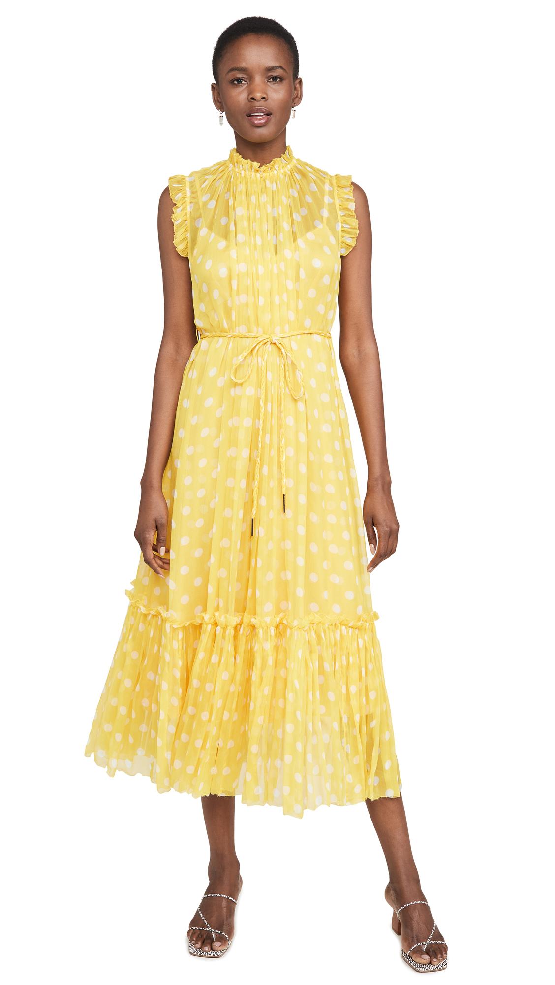 Photo of Zimmermann Brightside Frilled Midi Dress - shop Zimmermann Clothing, Dresses online