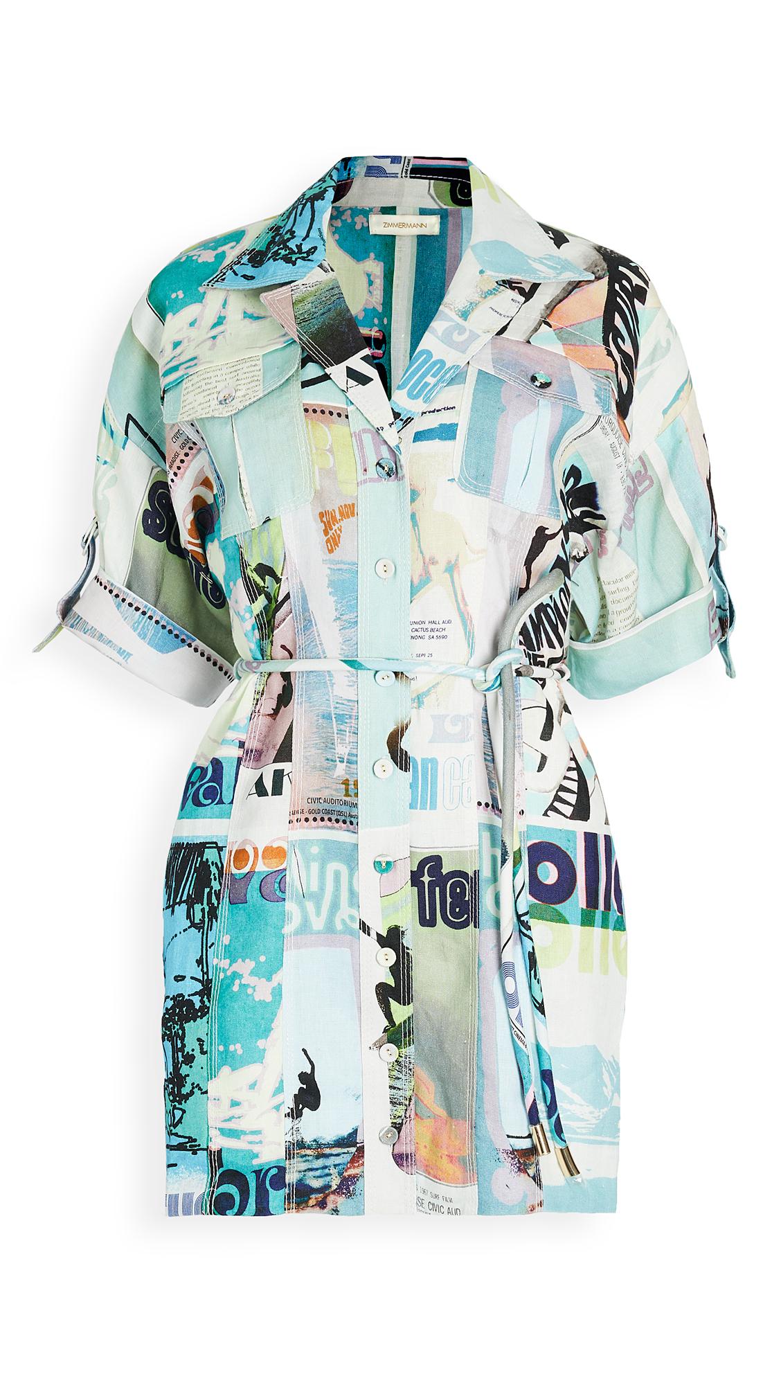 Zimmermann Glassy Safari Mini Dress - 30% Off Sale