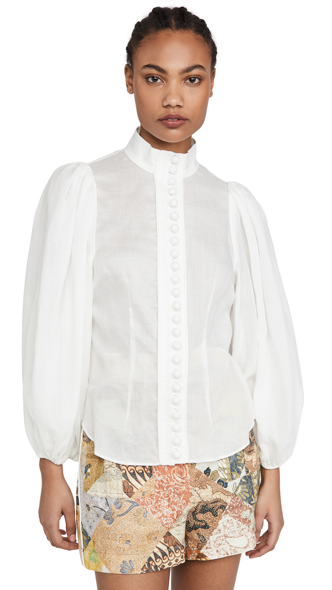 Photo of Zimmermann Brightside Piped Body Blouse - shop Zimmermann Tops, Blouses online
