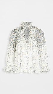 Zimmermann Carnaby Waterfall 女式衬衫
