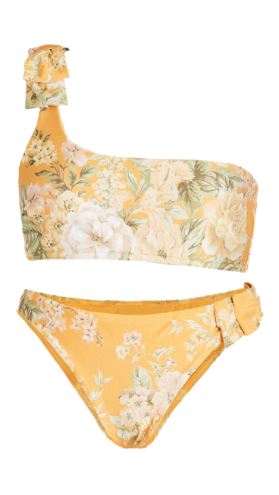 Zimmermann Amelie Bow Bikini Set - Amber Garden Floral