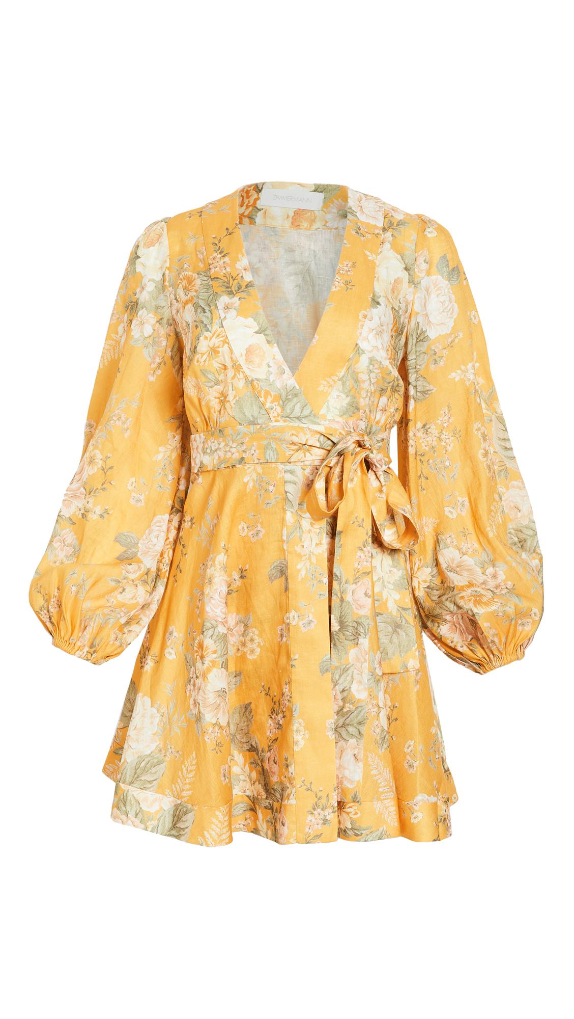 Zimmermann Amelie Wrap Short Dress