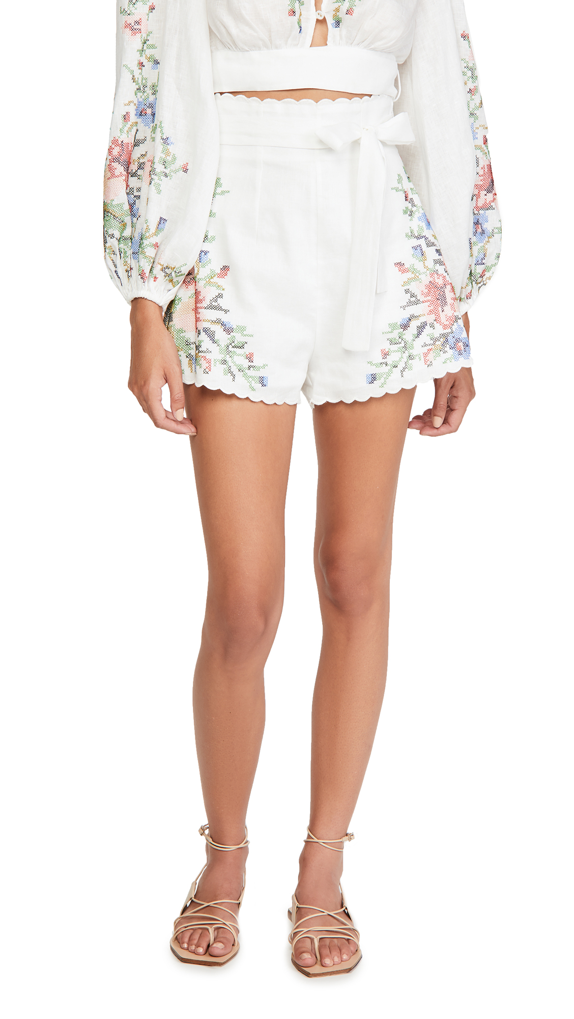 Zimmermann Juliette Cross Stitch Shorts