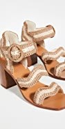 Zimmermann Wavy Raffia Sandals