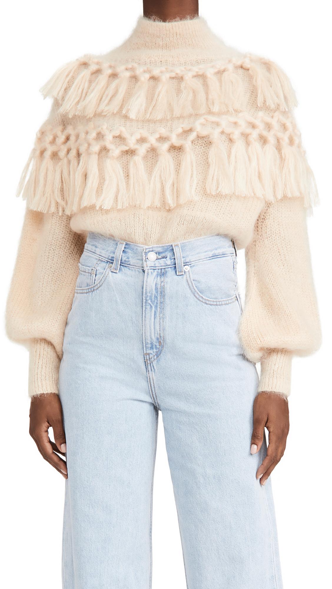 Zimmermann Mohair Ladybeetle Tassel Sweater