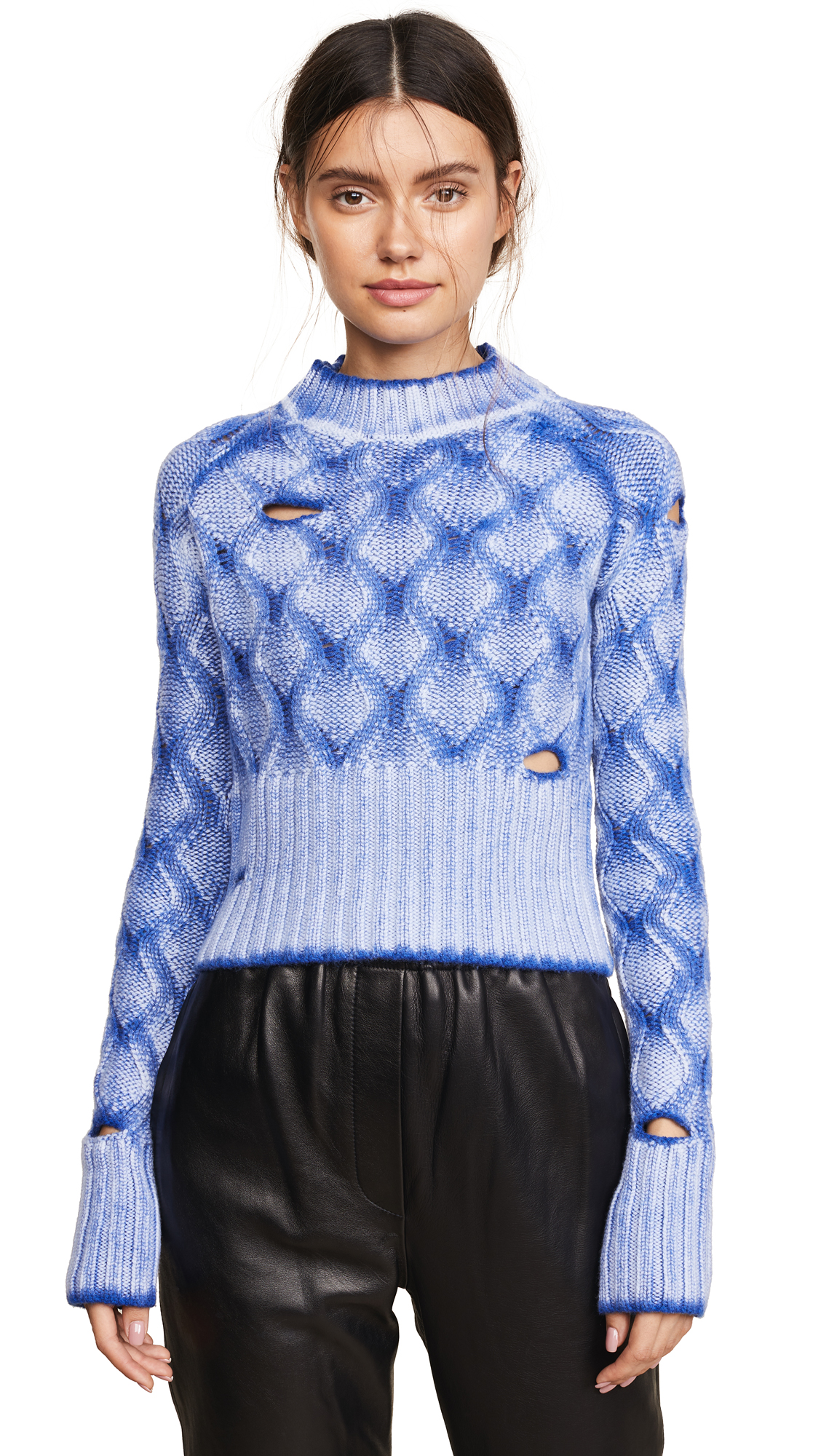 Zoe Jordan Parker Knit Sweater - White/Electric Blue