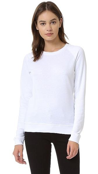 Zoe Karssen Loose Fit Raglan Sweater In Optical White