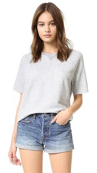 Zoe Karssen Loose Fit Raglan Sweater - Grey Heather