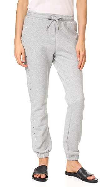 Zoe Karssen Studded Sweats - Grey Heather