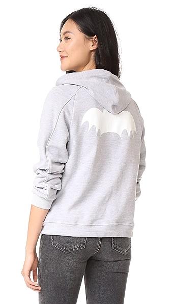 Zoe Karssen Bat Zip Up Hoodie - Grey Heather
