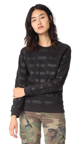 Zoe Karssen Bats All Over Sweatshirt - Deep Black