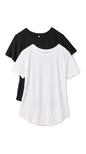 2 PACK OF RELAXED CREW TEES