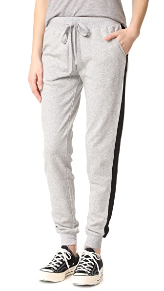 Z Supply Athleisure Joggers - Heather Grey/Black