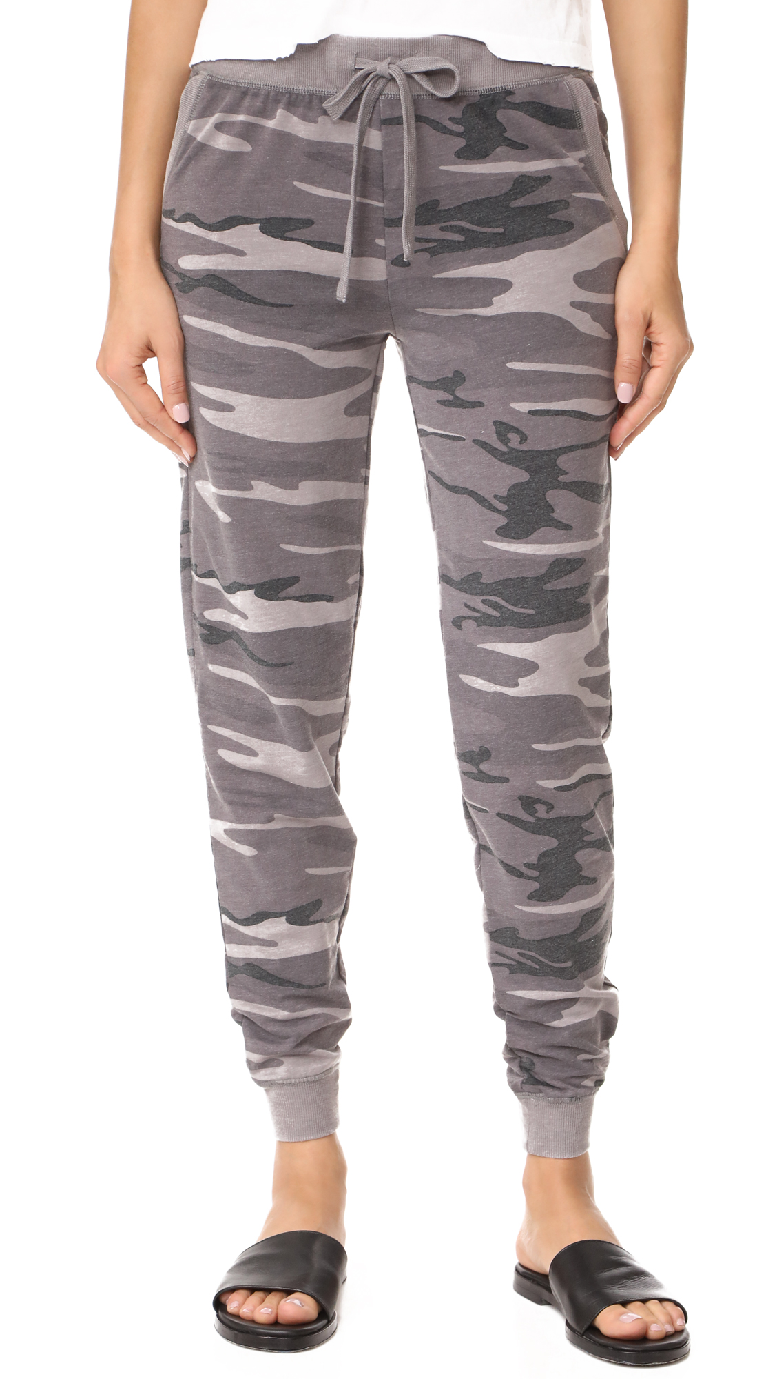 Z Supply The Camo Pants In Camo Black