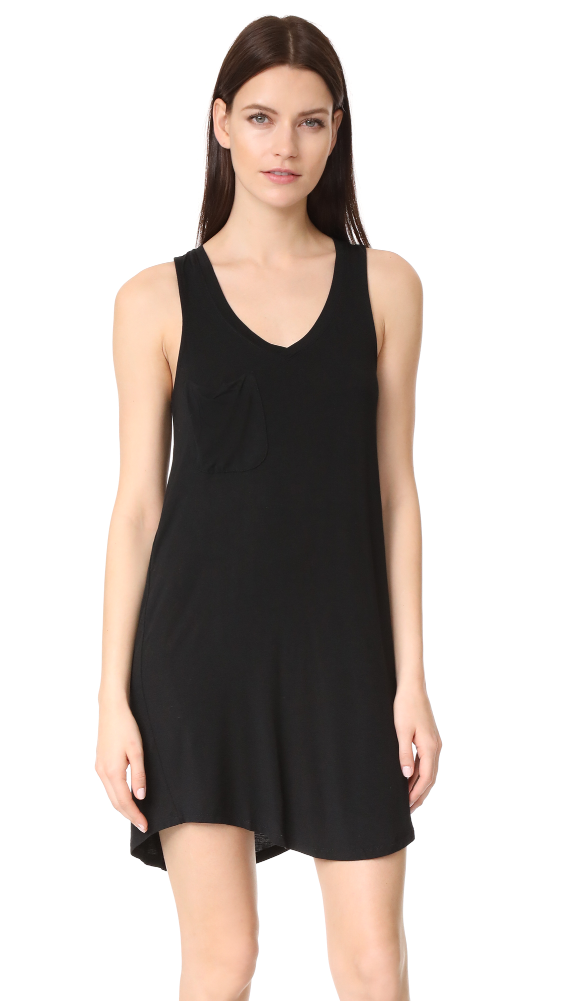 Z Supply The Pocket Racer Tank Dress - Black