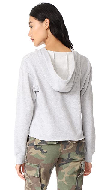 Z Supply The Cropped Lace Up Hoodie