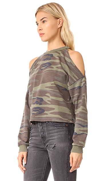 Z Supply Camo Cropped Pull Over