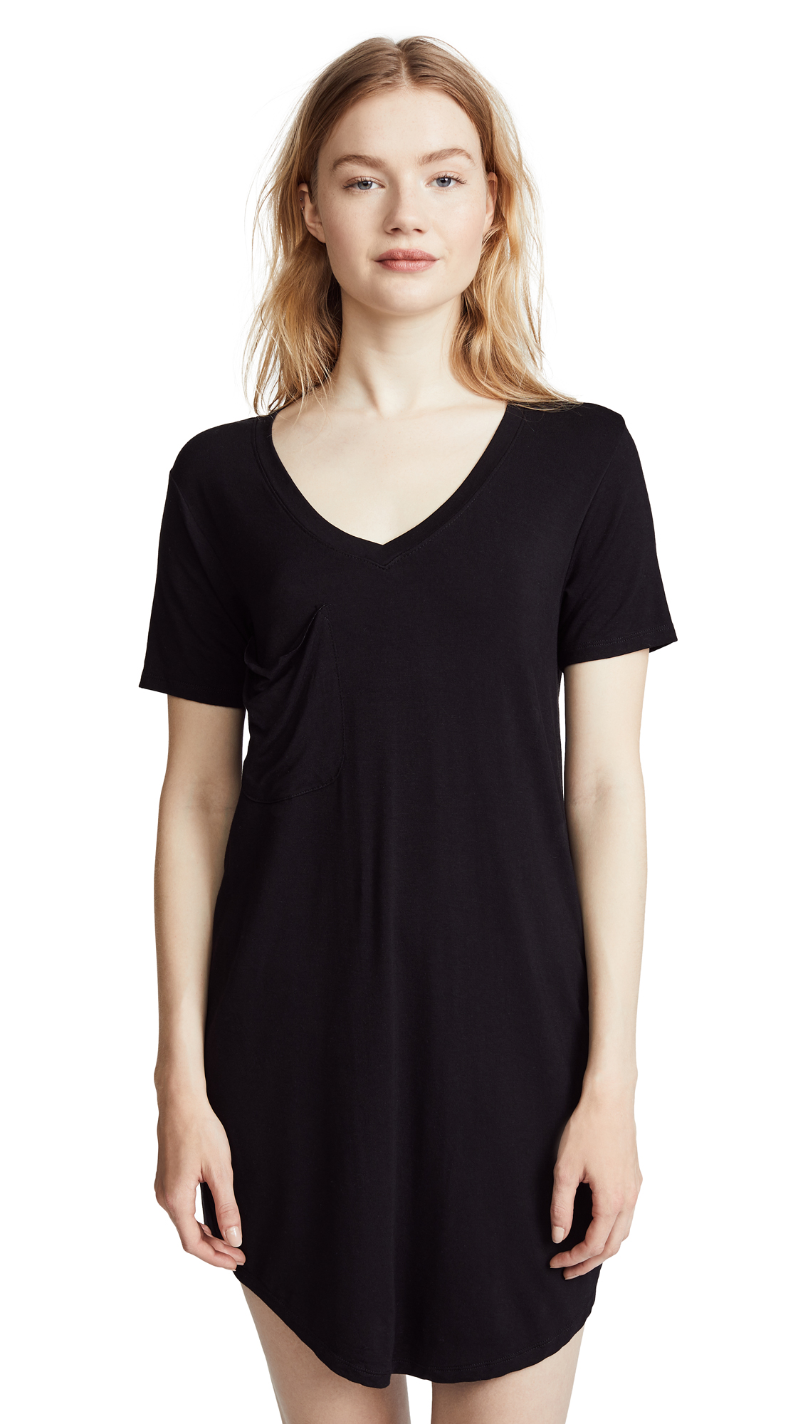 Z Supply The Pocket Tee Dress In Black