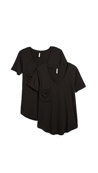 Z Supply Sleek Jersey Tee - 2 Pack In Black