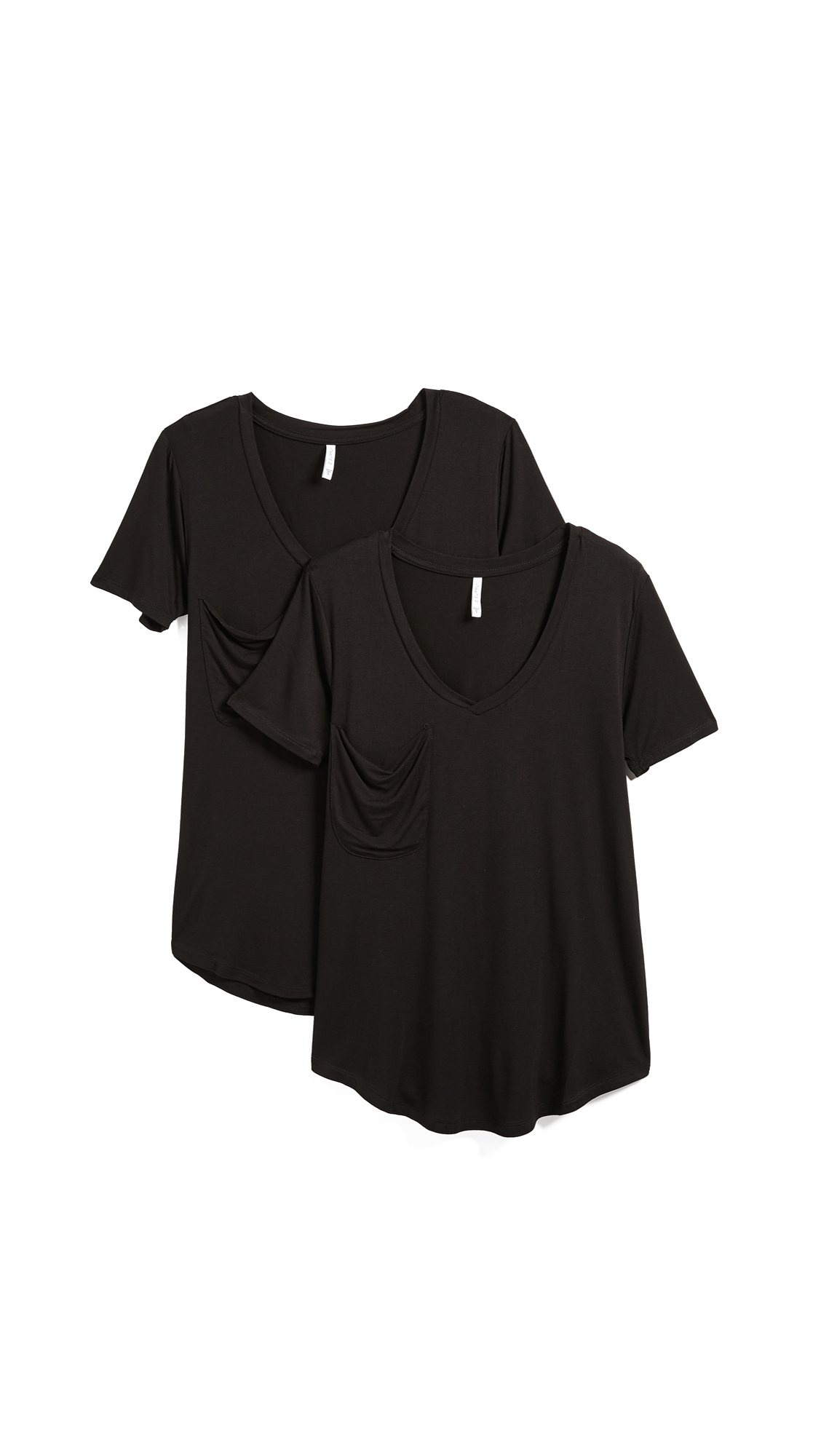 Z Supply Sleek Jersey Tee - 2 Pack In Black