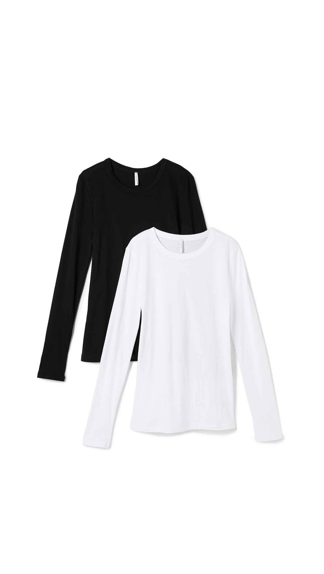 Z Supply Fitted Long Sleeve Crew Neck Tee - 2 Pack