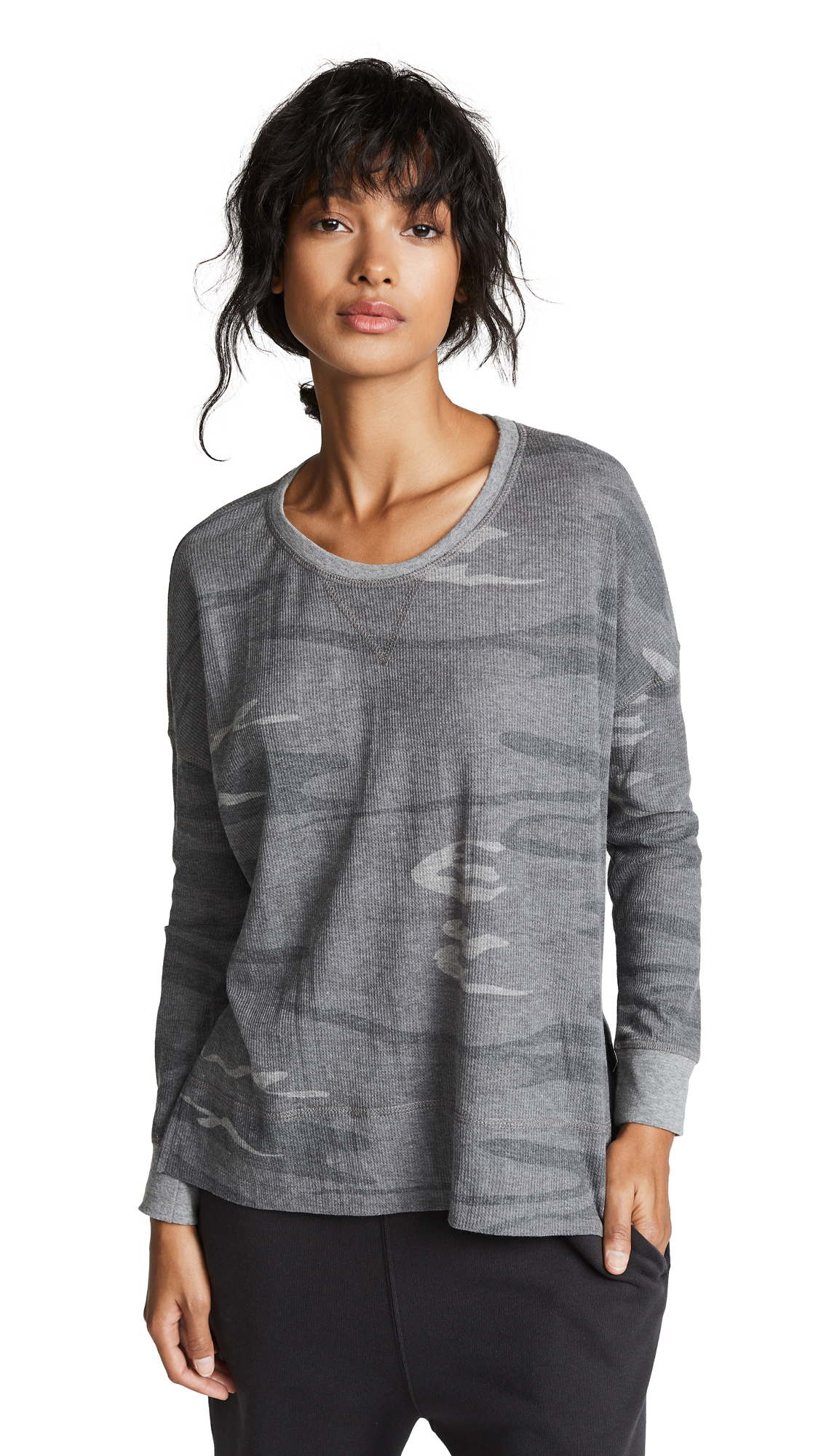 THE EMERSON CAMO THERMAL TEE from Shopbop