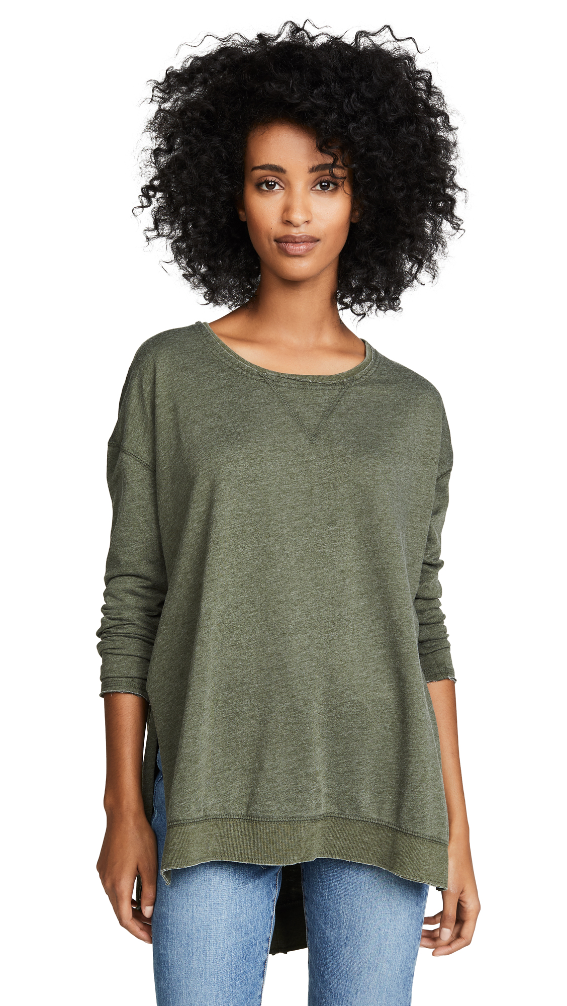 Z Supply The Weekender Pullover In Olive
