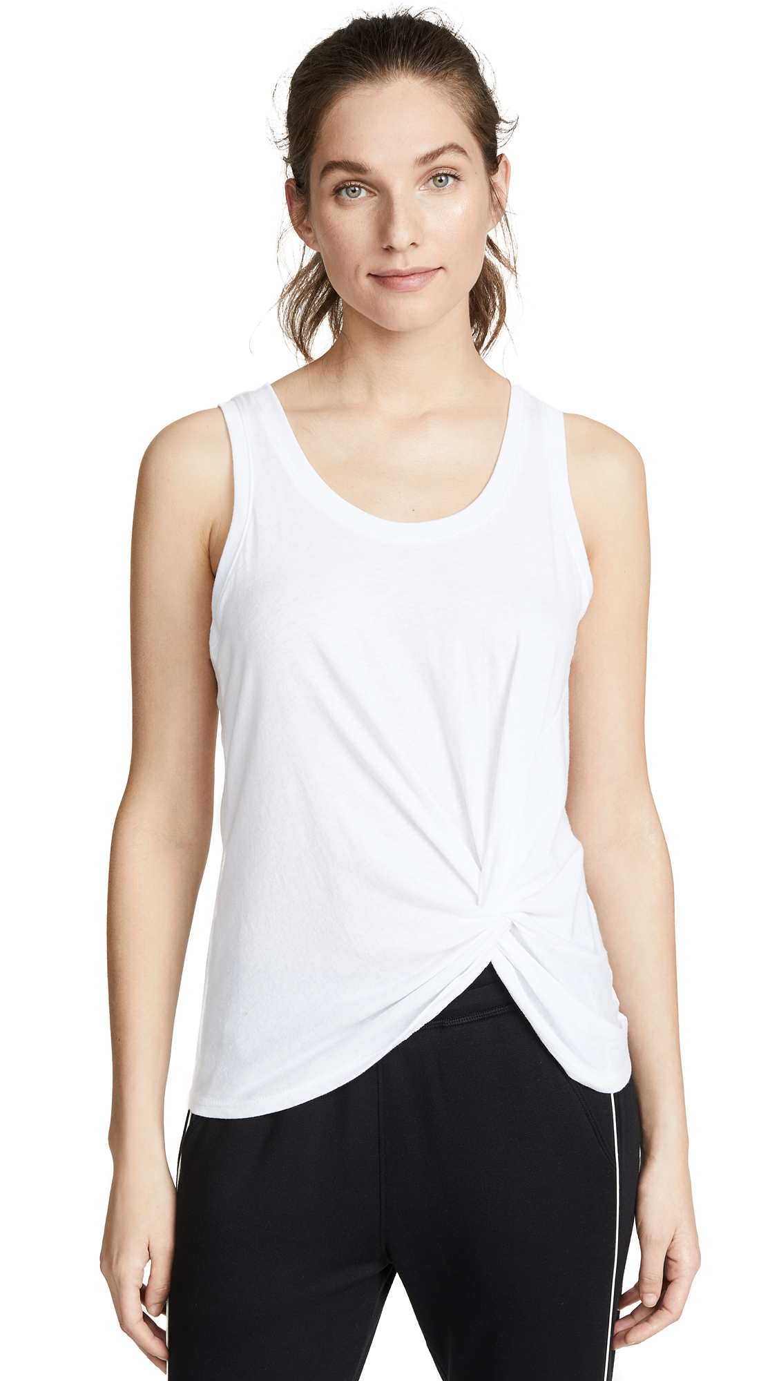 Z Supply Twist Front Tank Top In White