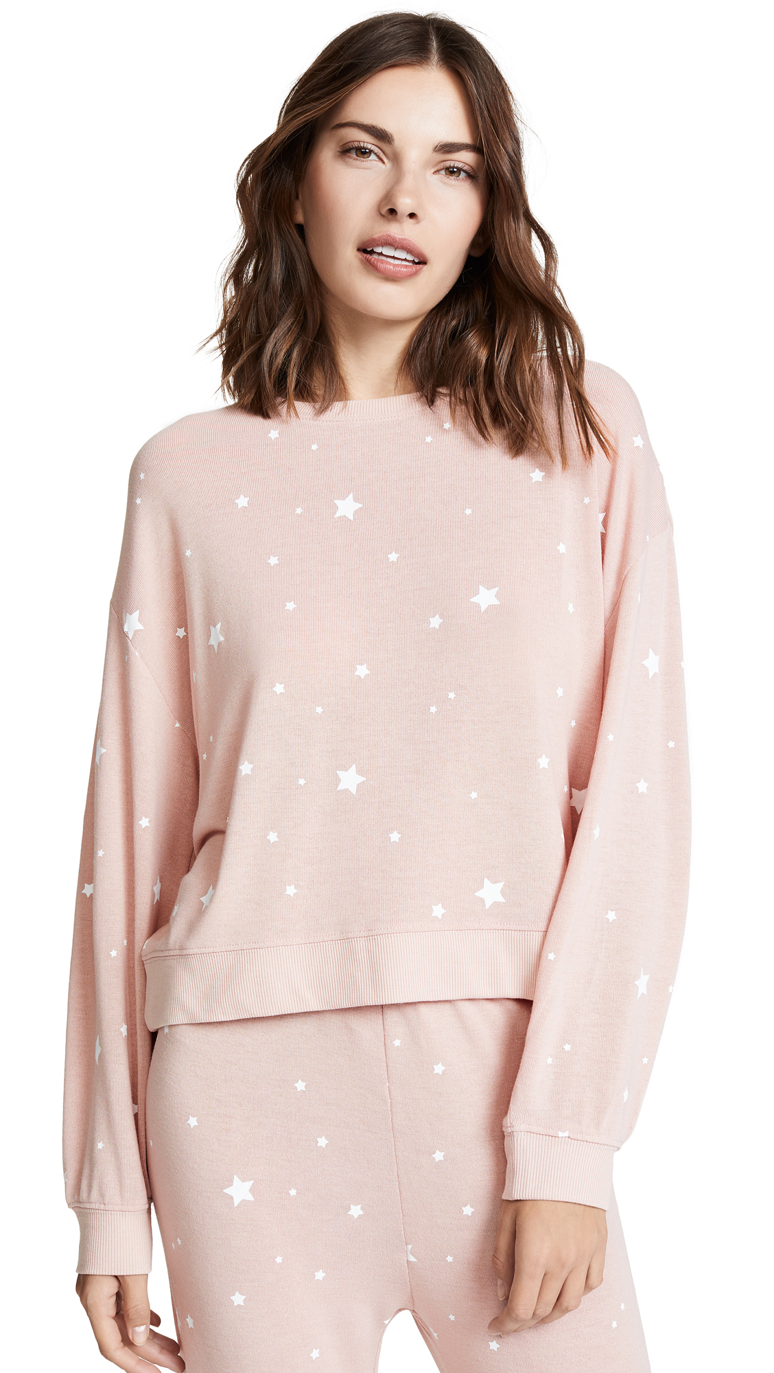 Z SUPPLY Star Print Pull Over in Silver Peony