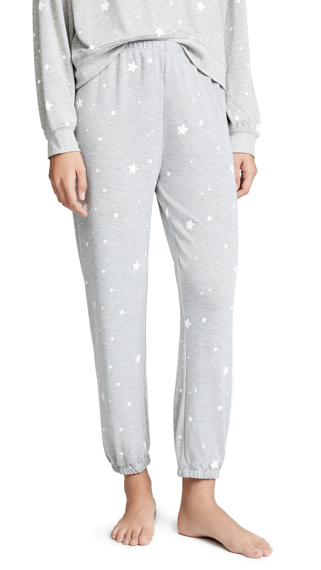 Z SUPPLY Star Print Joggers in Heather Grey