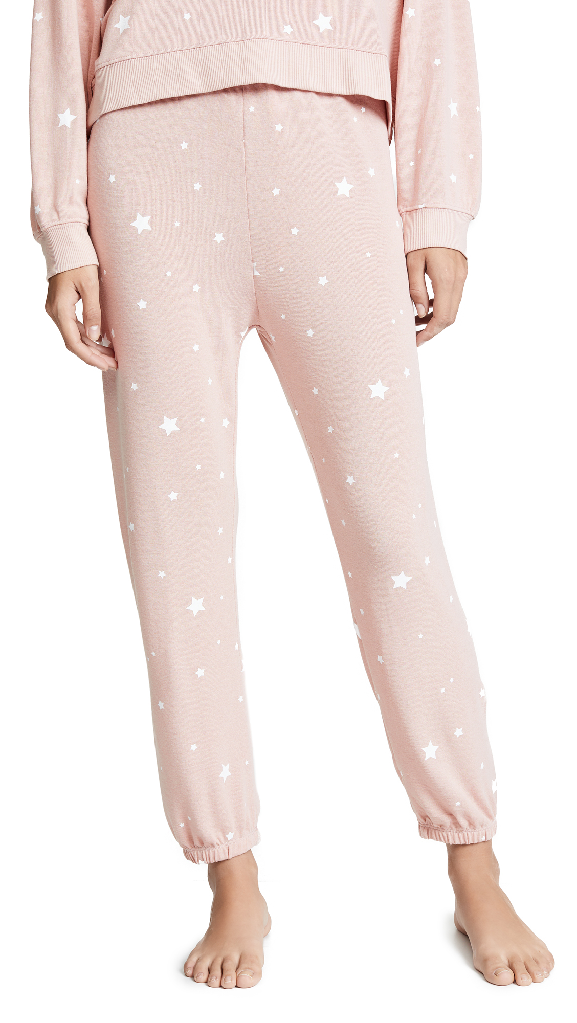 Z SUPPLY Star Print Joggers in Silver Peony