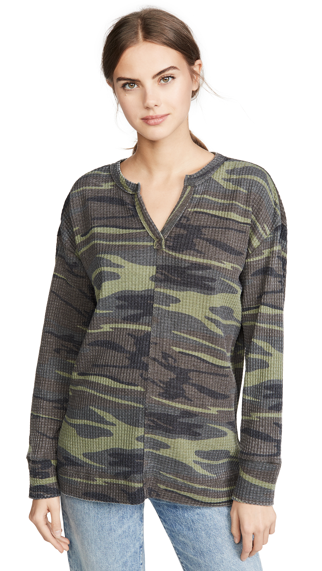 Buy Z Supply online - photo of Z Supply Camo Split Neck Thermal Top