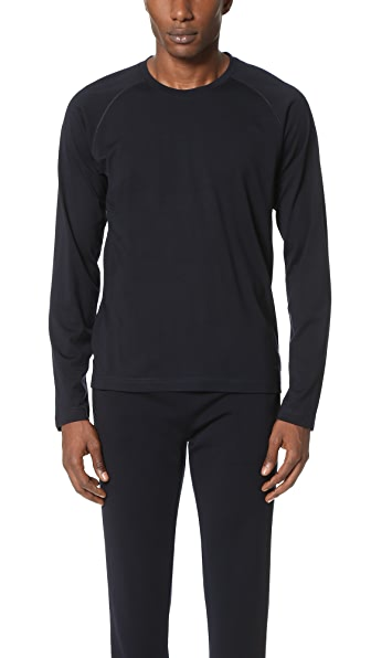 Z Zegna Techmerino Jersey Long Sleeve Crew Tee