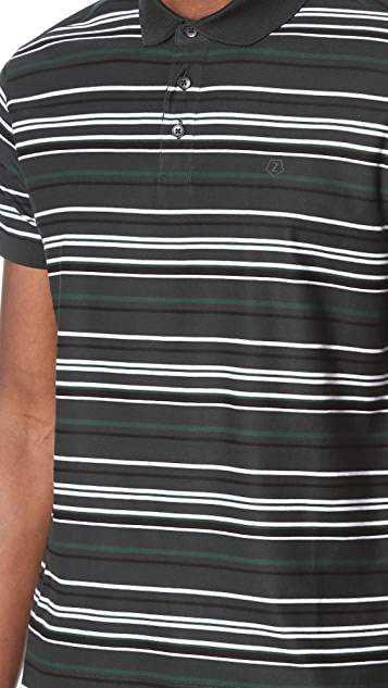 Z Zegna Mercerized Embossed Stripe Polo