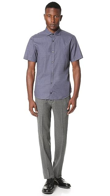 Z Zegna Short Sleeve Slim Fit Shirt