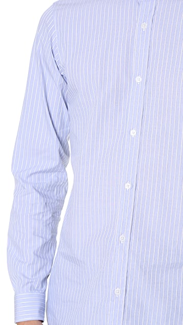 Z Zegna Slim Fit Striped Shirt