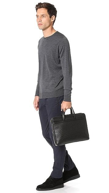 Z Zegna Pixel Slim Business Bag