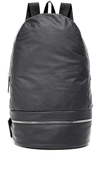 Z Zegna Popeline Leather Backpack